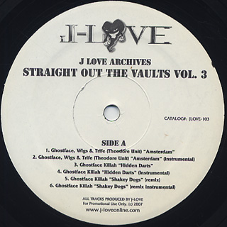J-Love / Straight Out The Vaults Vol.3