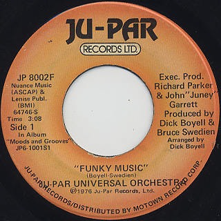 Ju-Par Universal Orchestra / Time c/w Funky Music