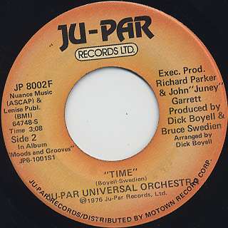 Ju-Par Universal Orchestra / Time c/w Funky Music back