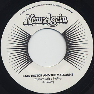Karl Hector And The Malcouns / J.B. Rip c/w Popcorn With A Feeling back