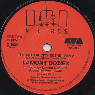 Lamont Dozier / The Motor City Scene back