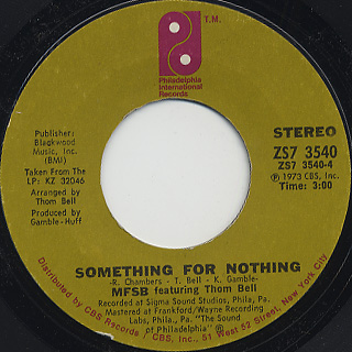 MFSB / Something For Nothing