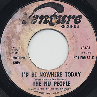 Nu People / I'd Be Nowhere Today