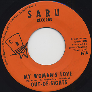 Out-of-Sights / My Woman's Love c/w I Was Wrong back