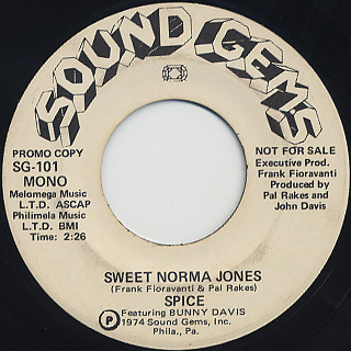Spice Featuring Bunny Davis / Sweet Norma Jones back