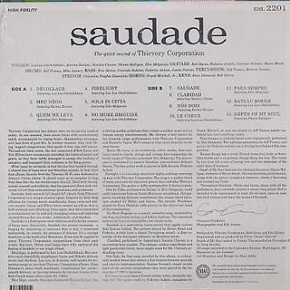 Thievery Corporation / Saudade back