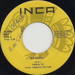 Tipica '73 / Manono c/w Oye Mi Guajira
