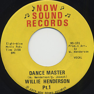 Willie Henderson / Dance Master front