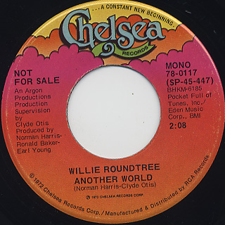Willie Roundtree / Another World back
