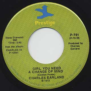 Charles Earland / Charles III c/w Girl You Need A Change Of Mind back