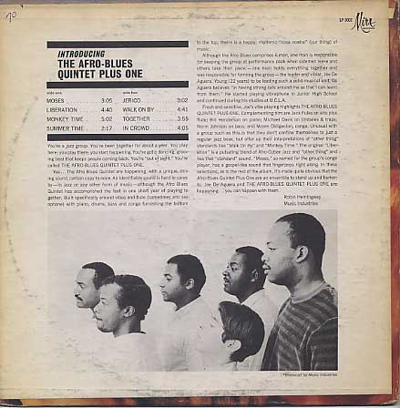 Afro Blues Quintet Plus One / Introducing back