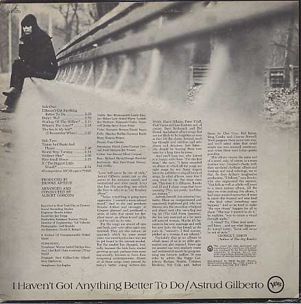 Astrud Gilberto / I Haven't Got Anything Better To Do back