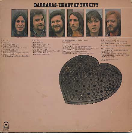 Barrabas / Heart Of The City back