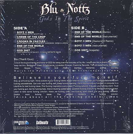 Blu & Nottz / Gods In The Spirit (Blue Vinyl EP) back