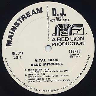 Blue Mitchell / Vital Blue label