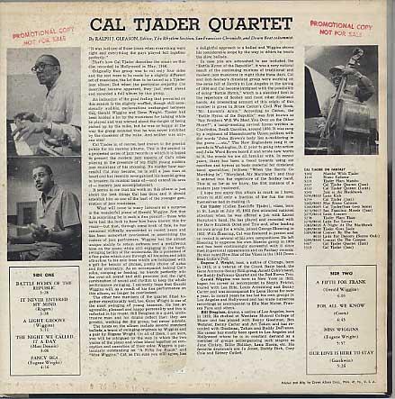 Cal Tjader Quartet / Cal Tjader Quartet back