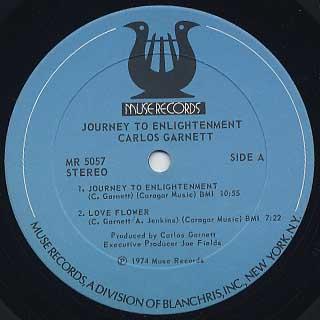 Carlos Garnett / Journey To Enlightenment label