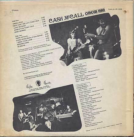Cash McCall / Omega Man back