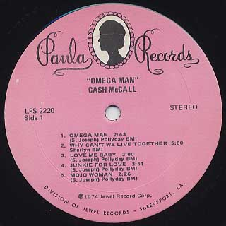 Cash McCall / Omega Man label