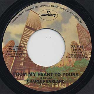 Charles Earland / Intergalactic Love Song c/w From My Heart To Yours back