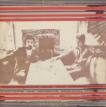 Daryl Hall & Jhon Oates / Abandoned Luncheonette back