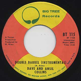 Dave And Ansil Collins / Double Barrel back