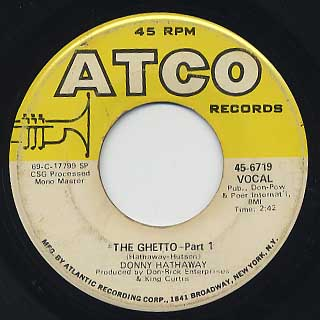 Donny Hathaway / The Ghetto (45)