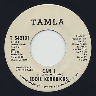 Eddie Kendricks / Can I front