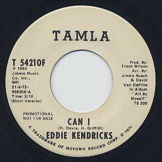 Eddie Kendricks / Can I back