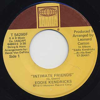 Eddie Kendricks / Intimate Friends c/w Baby
