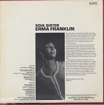 Erma Franklin / Soul Sister back