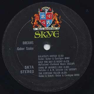 Gabor Szabo / Dreams label