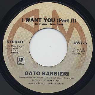 Gato Barbieri / I Want You back