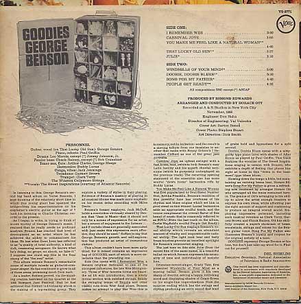 George Benson / Goodies back
