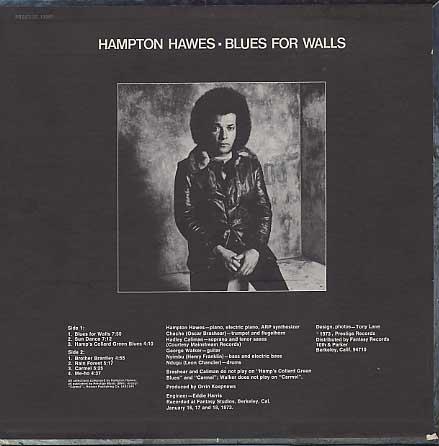 Hampton Hawes / Blues For Walls back