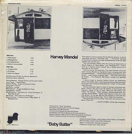 Harvey Mandel / Baby Batter back