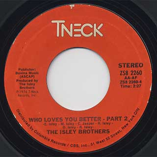 Isley Brothers / Who Loves You Better back