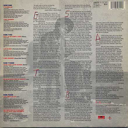 James Brown / In The Jungle Groove(Urban Press) back