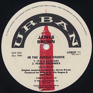 James Brown / In The Jungle Groove(Urban Press) label