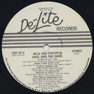 Kool and The Gang / Wild and Peaceful label