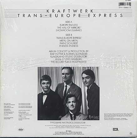 Kraftwerk / Trance Europe Express back
