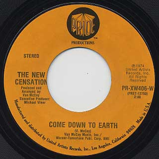New Censation / Come Down To Earth c/w I'vw Got Nothin' But Time
