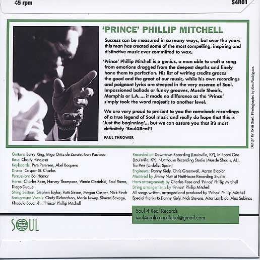 Phillip Mitchell / Just The Beginning back