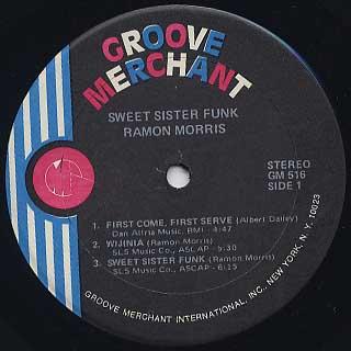Ramon Morris / Sweet Sister Funk label