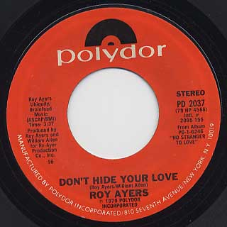 Roy Ayers / Don't Stop The Feeling c/w Don't HIde Your Love back