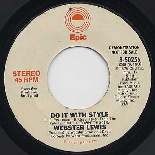 Webster Lewis / Do It With Style back