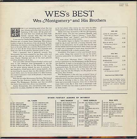 Wes Montgomery And His Brothers / Wes' Best back