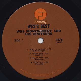 Wes Montgomery And His Brothers / Wes' Best label