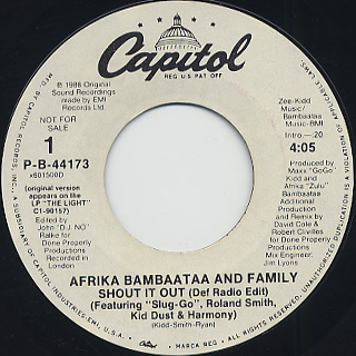 Afrika Bambaataa and Family / Shout It Out