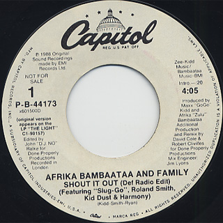 Afrika Bambaataa and Family / Shout It Out back